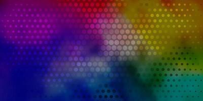 ljus flerfärgad vektorbakgrund med bubblor.