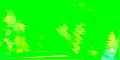 hellgrünes, gelbes Vektordreieckmosaikmuster.