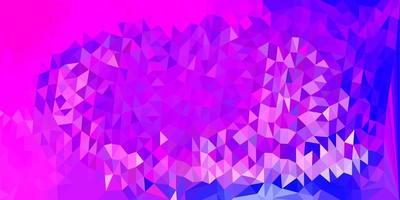hellrosa, blaue Vektor geometrische polygonale Tapete.