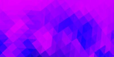 ljus lila, rosa vektor abstrakt triangel mönster.