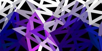 mörk lila vektor triangel mosaik tapet.