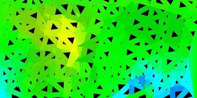 geometrisches polygonales Layout des dunkelblauen, grünen Vektors.