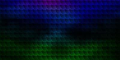 dunkle mehrfarbige Vektortextur im rechteckigen Stil. vektor