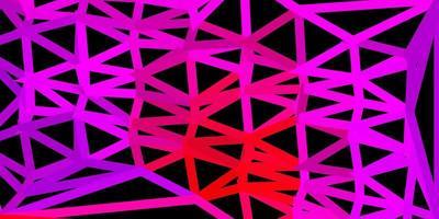 mörk lila, rosa vektor triangel mosaik bakgrund.