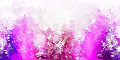 mörk lila, rosa vektor polygonal bakgrund.