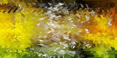 hellgrüne, gelbe Vektor-Poly-Dreiecksschablone.