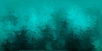 mörkgrön vektor triangel mosaik bakgrund.