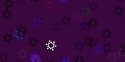 ljus flerfärgad vektormall med influensatecken vektor