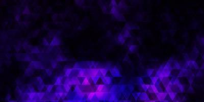 dunkelvioletter, rosa Vektorhintergrund mit Linien, Dreiecken. vektor