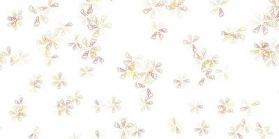 abstrakter Hintergrund des hellorangen Vektors mit Blättern.