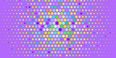 heller mehrfarbiger Vektorhintergrund mit Blasen.