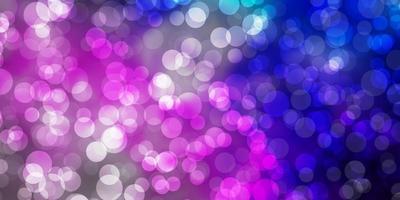 ljusrosa, blå vektorstruktur med cirklar. vektor
