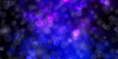 mörkrosa, blå vektormall med cirklar. vektor