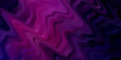 mörk lila, rosa vektor bakgrund med cirkulär båge.