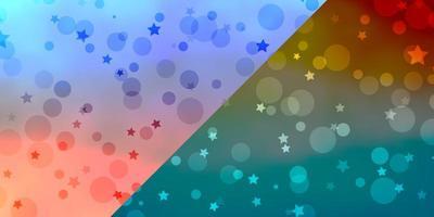 vektor konsistens med cirklar, stjärnor.