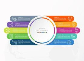 Standard-Infografiken und Business-Symbole vektor