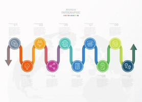 Standard-Infografik-Banner mit Business-Symbolen vektor