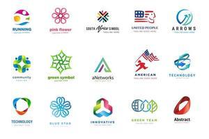 uppsättning logotypmallar