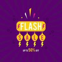 flash försäljning banner. försäljning banner med flash försäljning tecken. vektor