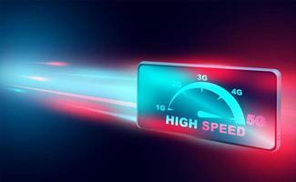 Hochgeschwindigkeits-Internet-Technologie-Banner vektor