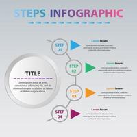 moderne Kreis Infografik mit 4 Schritten. Kreisdiagramm Infografik mit 4 Optionen. vektor