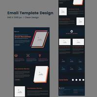 multifunktionell e-postmall för företagsnyhetsbrev vektor