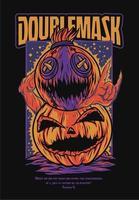 Halloween Kürbis Monster Illustration