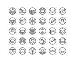 Bildungsskizze Icon Set. Vektor und Illustration.