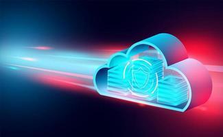 moln teknik koncept banner vektor
