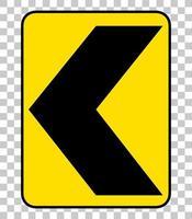 gelbes Verkehrswarnschild vektor