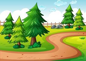 leere Parklandschaftsszene vektor