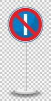 Parken an ungeraden Tagen verboten Schild mit Ständer vektor