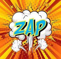 word zap på komisk moln explosion bakgrund