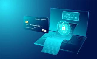 kreditkort online betalning koncept banner