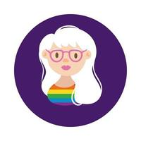 lesbisk karaktär gay pride block stil