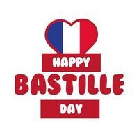 Bastille Day Schriftzug Hand zeichnen Stil
