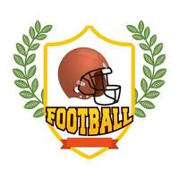 American Football Helm im Schild Emblem vektor