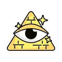 Auge im Dreieck magische Zauberei Symbol vektor