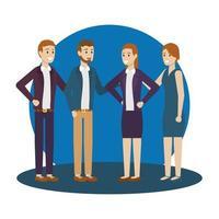Gruppe von Geschäftsleuten Vektor-Design vektor