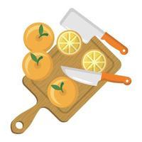 isolierte orange Fruchtvektorentwurf