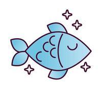 utsökt fisk hälsosam mat detaljerad stilikon