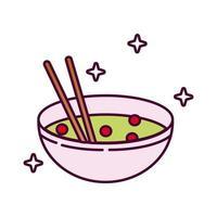 kinesisk maträtt detaljerad stilikon