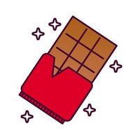 chokladkaka detaljerad stilikon