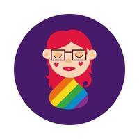 Lesben Charakter Homosexuell Stolz Block Stil
