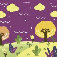 Magisk trädgårdsbakgrund