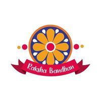 glad raksha bandhan blomma dekoration platt stil