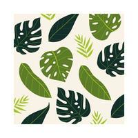lövrika växter tropisk mönster bakgrund vektor