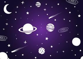 Herausragende ultraviolette galaktische Hintergrund-Vektoren