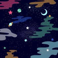 Enastående ultraviolett galaktiska bakgrundsvektorer