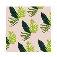 tropischer Musterhintergrund der Blattpflanzen vektor